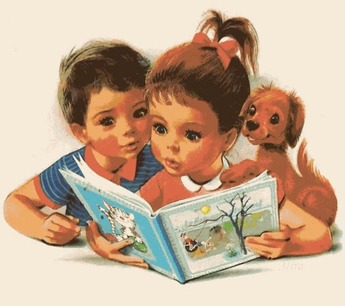 Картинки по запросу дети читают книгу